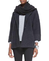 Eileen Fisher Merino Notchcollar Onebutton Jacket - Lyst