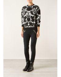 Alexander McQueen Naïve Pagan Jacquard-knit Wool-blend Pullover - Lyst
