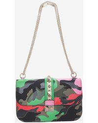 Valentino Psychedelic Camo Print Shoulder Bag green - Lyst