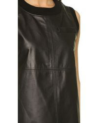 Vera Wang Collection - Sleeveless Top With Black Jersey Back - Black - Lyst