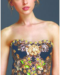Dolce & Gabbana | Bustier Dress In Tulle Embroidered With Crystals And Jewel Appliques | Lyst