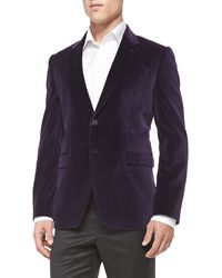 Paul Smith Slim-fit Velvet Jacket - Lyst