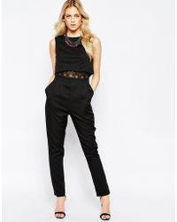 Girls On Film - Jumpsuit With Overlay Top - Lyst