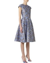Mary Katrantzou Jq Babelonia Cap Dress with Tulle - Lyst