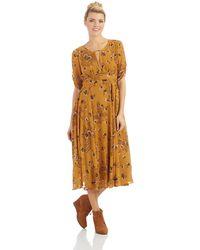 Free People Yellow Bonnie Dress - Lyst