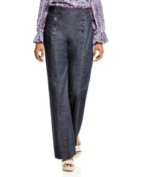 Nanette Lepore | Denim Sailor Pants | Lyst