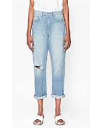 French Connection High Rise Boyfriend Jeans blue - Lyst