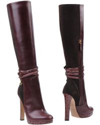 DSquared2 Purple Boots - Lyst