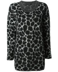Gucci Leopard Print Sweater - Lyst