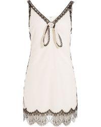 Anna Sui Vintage Lace Dress white - Lyst
