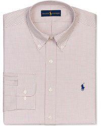 Ralph Lauren Polo Twill Tattersal Dress Shirt - Lyst