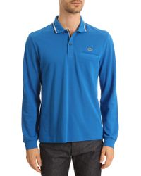 Lacoste Ml Blue Polo with Navy and White Trim - Lyst