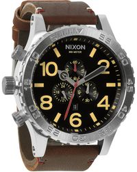 Nixon Stainless Steel Chronograph Watch brown - Lyst