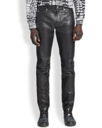McQ by Alexander McQueen Leather Jeans - Lyst