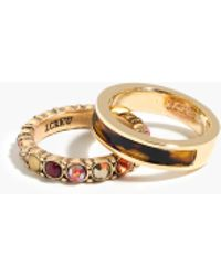 J.Crew Mixed Stacking Rings (Set Of Two) multicolor - Lyst