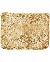 Santi - Gold-Tone Sequin Clutch Bag - Lyst