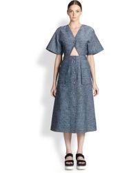 Stella McCartney Cut-Out Midi Dress - Lyst