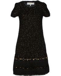 Elisabetta Franchi Gold Black Short Dress - Lyst