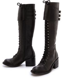 Jeffrey Campbell Tall Combat Boots - Black - Lyst