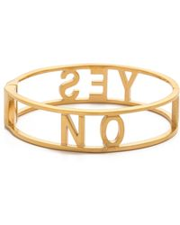 Rebecca Minkoff Yes No Hinge Bracelet - Gold - Lyst