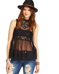 Free People Lace Tank - Lyst