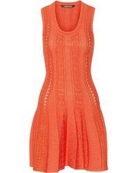 Roberto Cavalli Stretch Knit Mini Dress - Lyst