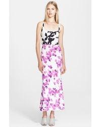 Narciso Rodriguez Print Stretch Silk Georgette Maxi Dress - Lyst