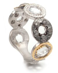 Coomi - Opera Tricolor Crystal & Diamond Circle Ring - Lyst