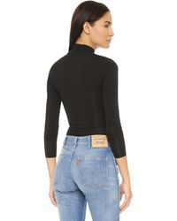 Capulet - Long Sleeve Turtleneck Bodysuit - Black - Lyst