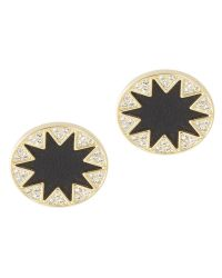 House Of Harlow Sunburst Earrings with Pave - Lyst