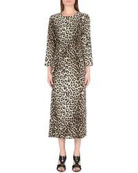 Rag & Bone Leopard-print Silk Dress - Lyst