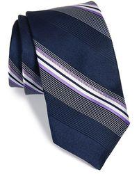 Michael Kors - 'dudley' Stripe Silk Tie - Lyst