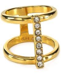 Rebecca Minkoff Double Bar Ring - Lyst