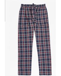 French Connection   Crossover Rock Check Lounge Pants   Lyst