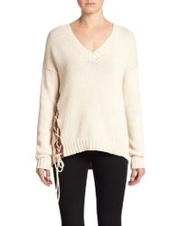 Bailey 44 Laced Cotton Sweater - Lyst