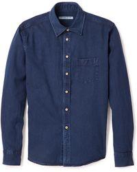 Brooklyn Tailors Indigo Denim Shirt - Lyst