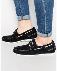 Tommy Hilfiger - Suede Boat Shoes - Lyst