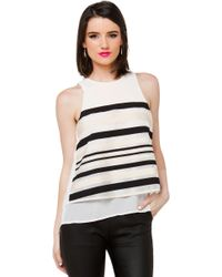 Akira Black Label - Hope You Know Cream Open Back Top - Lyst