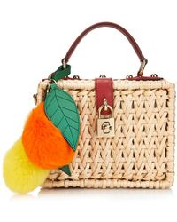 Dolce & Gabbana Miss Dolce Raffia Box Bag - Lyst