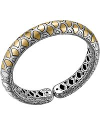 John Hardy Naga Gold  Silver Flex Cuff - Lyst