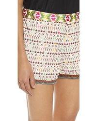Love Sam - Imari Yucatec Embroidered Shorts - Ivory/multi - Lyst