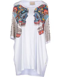 Laneus White T-Shirt - Lyst