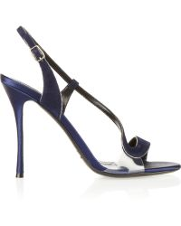 Nicholas Kirkwood Glittertrimmed Suede and Satin Sandals - Lyst