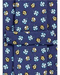 E. Marinella - Ladybug And Floral Print Silk Tie - Lyst