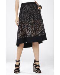 BCBGMAXAZRIA Keary Burnout Lace Skirt - Lyst