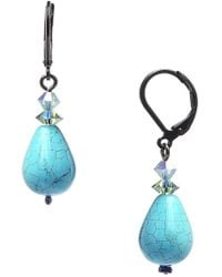 Dabby Reid | 'annie' Crystal Mix Drop Earrings - Turquoise | Lyst