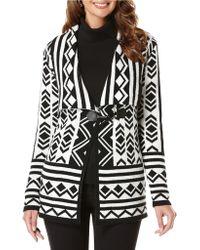 Rafaella - Patterned Sweatercoat - Lyst