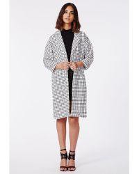 Missguided Marliee Check Print Duster Coat - Lyst