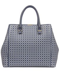 Victoria Beckham - Perforated Liberty Leather Tote - Lyst