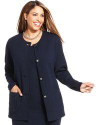 Jones New York Collection Plus Size Longsleeve Cardigan - Lyst
